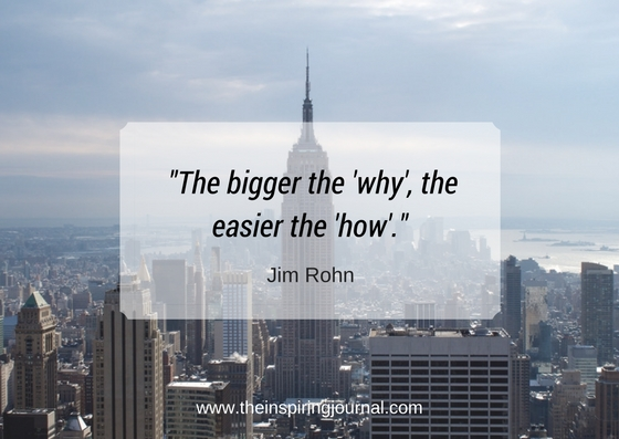 the bigger the why the easier the how - Jim Rohn Quotes Images