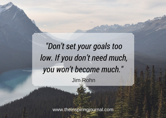 Don't set your goals too low. If you don't need much, you won't become much. – Jim Rohn Quotes Images