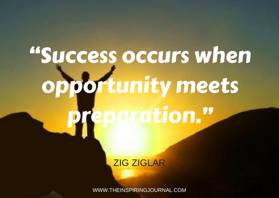 zig ziglar quotes - Success occurs when opportunity meets preparation. – Zig Ziglar